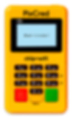 maquininha minizinha amarela